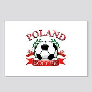 Poland Soccer Designs Postcards (Package of 8)