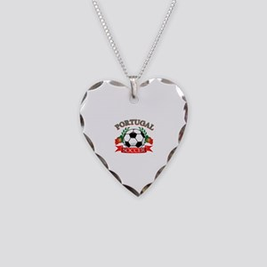 Portugal Soccer designs Necklace Heart Charm