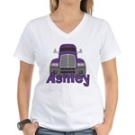Trucker Ashley Women's V-Neck T-Shirt