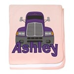 Trucker Ashley baby blanket