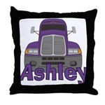 Trucker Ashley Throw Pillow