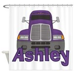 Trucker Ashley Shower Curtain