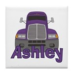 Trucker Ashley Tile Coaster