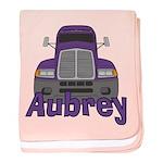 Trucker Aubrey baby blanket