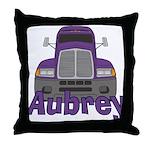 Trucker Aubrey Throw Pillow