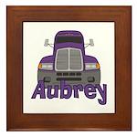 Trucker Aubrey Framed Tile