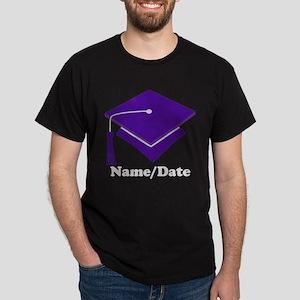 Personalized Purple Graduation Dark T-Shirt