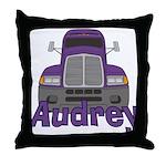 Trucker Audrey Throw Pillow