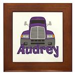 Trucker Audrey Framed Tile