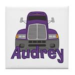 Trucker Audrey Tile Coaster