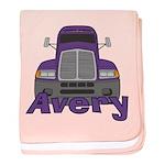 Trucker Avery baby blanket