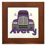 Trucker Avery Framed Tile