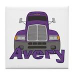 Trucker Avery Tile Coaster