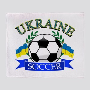 Ukraine Soccer Designs Throw Blanket