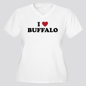 BUFFALO Women's Plus Size V-Neck T-Shirt