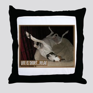 Roaching Greyhound Throw Pillow