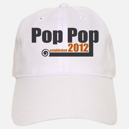 Pop Pop Established 2012 Baseball Baseball Cap