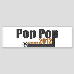 Pop Pop Established 2012 Sticker (Bumper)