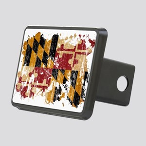 Maryland Flag Rectangular Hitch Cover
