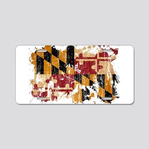 Maryland Flag Aluminum License Plate