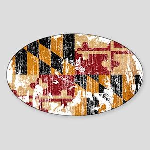 Maryland Flag Sticker (Oval)
