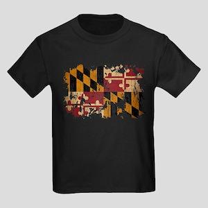 Maryland Flag Kids Dark T-Shirt