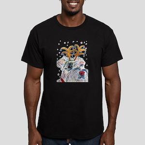 Holiday Schnauzer Men's Fitted T-Shirt (dark)