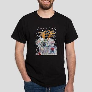 Holiday Schnauzer Dark T-Shirt