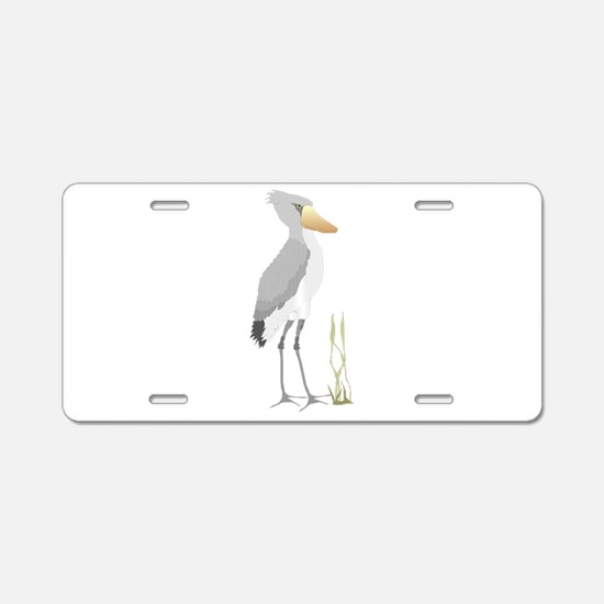Shoebill Stork Aluminum License Plate