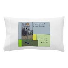 Blackened Blue Roses Pillow Case