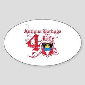 Antigua Barbuda for life designs Sticker (Oval)