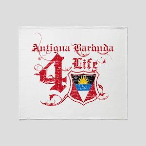Antigua Barbuda for life designs Throw Blanket