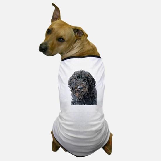 Black Labradoodle Pokey Dog T-Shirt