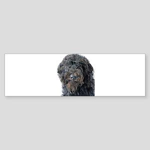 Black Labradoodle Pokey Sticker (Bumper)