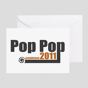 Pop Pop Established 2011 Greeting Card