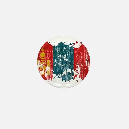 Mongolia Flag Mini Button