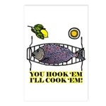You Hook 'Em Fishing Postcards (Package of 8)