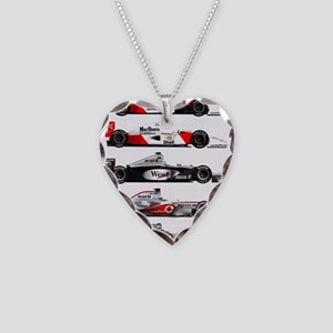 F1 grid Necklace Heart Charm