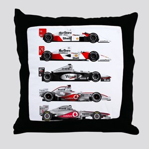 F1 grid Throw Pillow