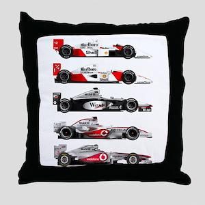 F1 grid Throw Pillow