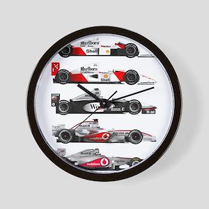 F1 grid Wall Clock