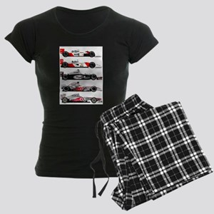 F1 grid Women's Dark Pajamas
