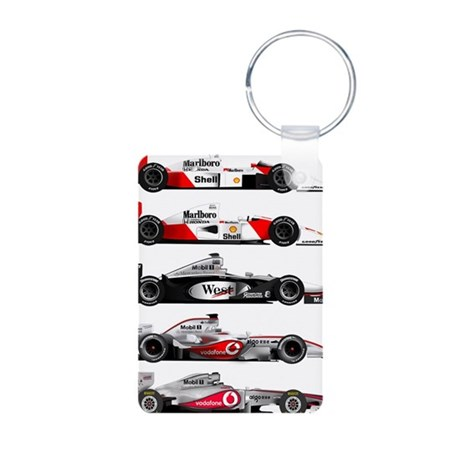 F1 grid Aluminum Photo Keychain