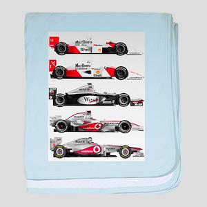 F1 grid baby blanket