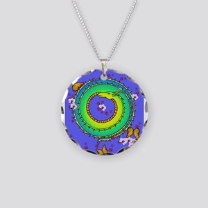 Sleeping dragon Necklace Circle Charm