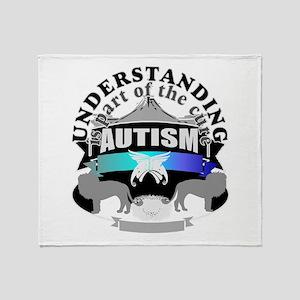 autismunder4 Throw Blanket