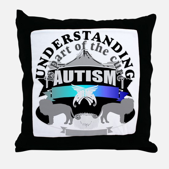 autismunder4.png Throw Pillow