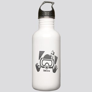 Idive Glass Desaturate Stainless Water Bottle 1.0L