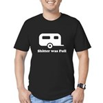 Shitter was full 1 white Men's Fitted T-Shirt
