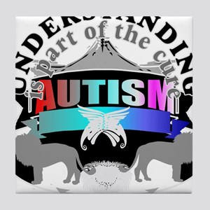 autismunder5 Tile Coaster